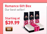 Romance Gift Box. A ready-to-gift box packed with 3 bags of your personal creation. Starting at $39.99
