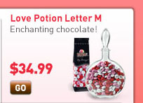 Love Potion Letter M Enchanting chocolate! Starting at $34.99