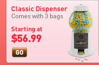 Classic Dispenser. Comes with three bags. Starting at $56.99